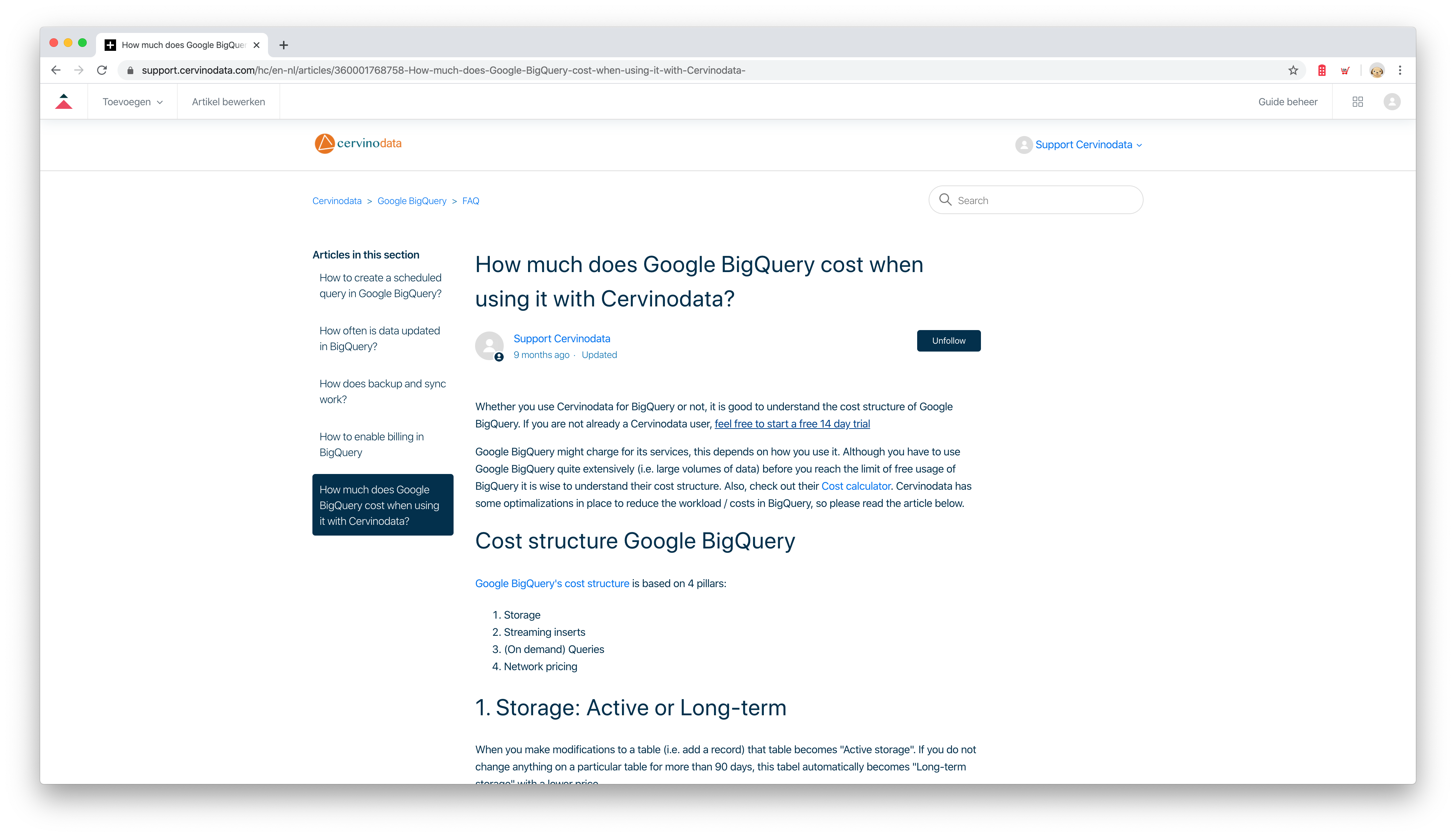 BigQuery cost structure explained