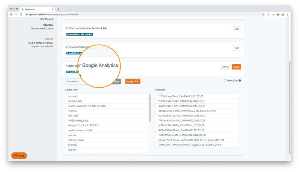 Blend ad data and google analytics