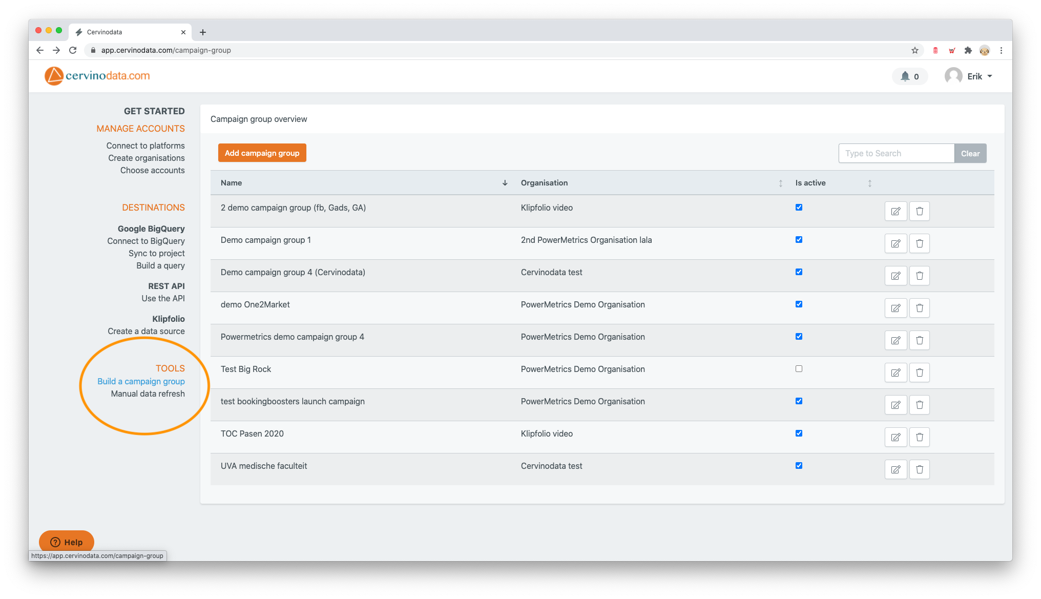 filter campaigns multiple platforms Data Studio Klipfolio